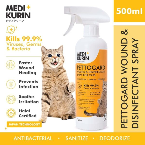 MEDI+KURIN HOCl PettoGard For Cats 500ml